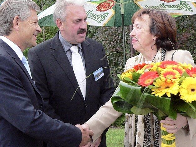 Vítání Lívie Klausové ve Zvíkovském Podhradí