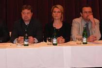 Část zastupitelstva obce Chyšek, zleva starosta Miroslav Maksa a místostarosta Václav Calta.