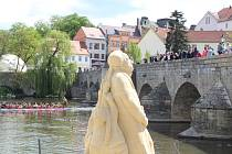 Písková socha Klementa Gottwalda v Písku.