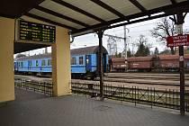 Vlakové nádraží v Písku.