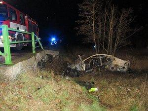 Tragická  nehoda u obce Dobev