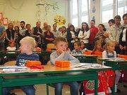 První školní den v ZŠ Cesta Písek.