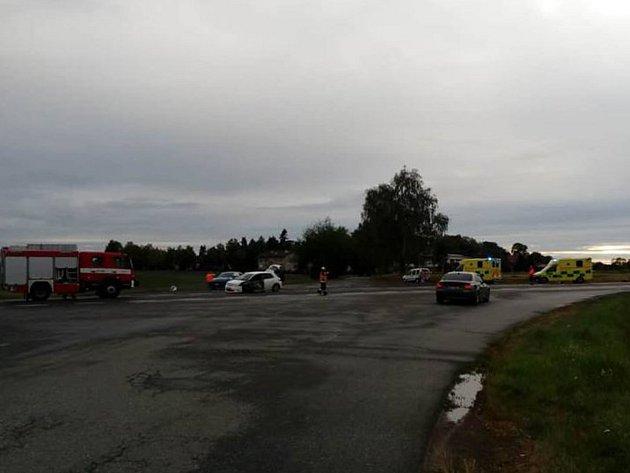 Dopravní nehoda uKostelce nad Vltavou.
