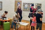 Vernisáž výstavy Raketa v písecké galerii Sladovna.