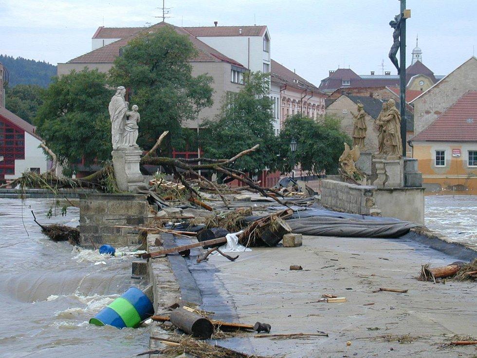 Povodně 2002 - Písek.
