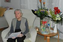 Starostka poblahopřála ke stým narozeninám.