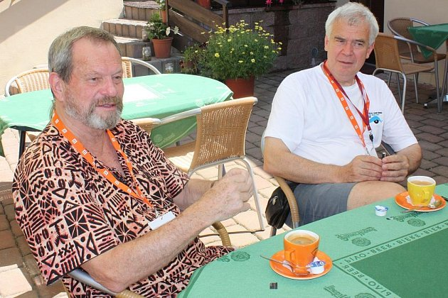 Terry Gilliam a ředitel festivalu Michael Havas