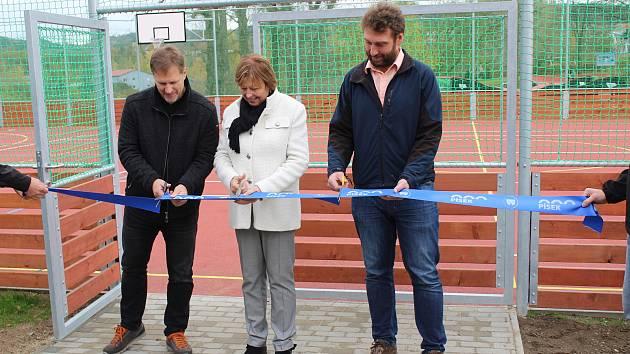 Sportovní areál na Jiráskově nábřeží v Písku.