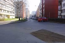 Truhlářská ulice na sídlišti Jih v Písku.