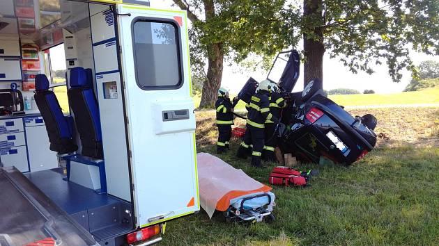 Nehoda ve Dmýšticích u Milevska.