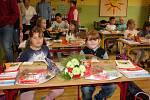 První školní den v Základní škole Mikoláše Alše v Miroticích.