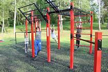 Nové workoutové hřiště v Milevsku.