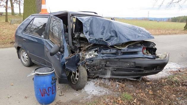 Nehoda mezi obcemi Probulov a Orlík nad Vltavou.