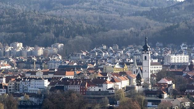 Písek - panorama z Hradiště.