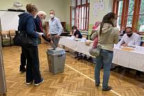 Zájem o volby v Základní škole T.G. Masaryka byl velký.