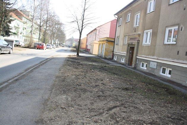 Ulice Karla Čapka v Milevsku.