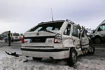 Pondělní ranní nehoda.