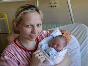 Radek Kolář zPřeštěnice. Prvorozený syn Karolíny a Jaroslava Kolářových se narodil 28. 3. 2019 v11.48 hodin. Při narození vážil 3350 g a měřil 50 cm. Foto: Jana Krupauerová