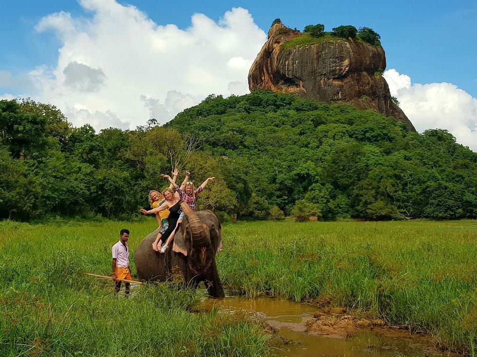 Projížďka na slonech.