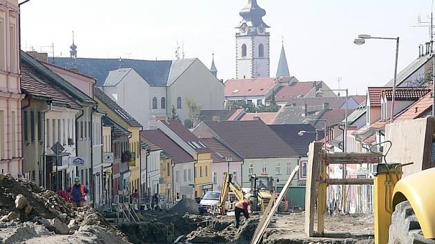 Momentka z průběhu stavby
