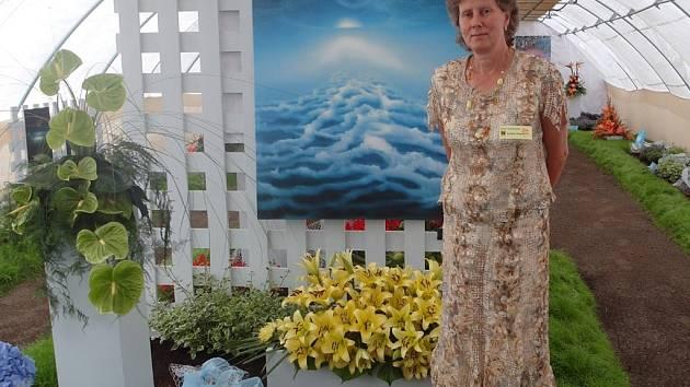 Hlavní organizátorka Výstavy květin v Čimelicích Hana Chvalová.