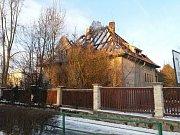 Požár rodinného domu v Čimelicích.