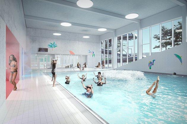 Studie nového bazénu pod lesnickou školou vPísku.