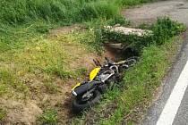 Tragická nehoda motorkáře.