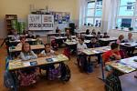 První školní den v ZŠ E. Beneše v Písku.