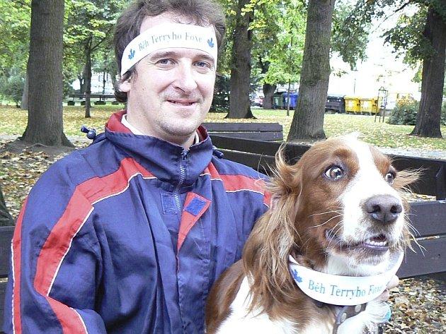 Se svou fenkou Jessy si zaběhl střední trať dlouhou 1600 metrů také Lubor Němeček z Písku.