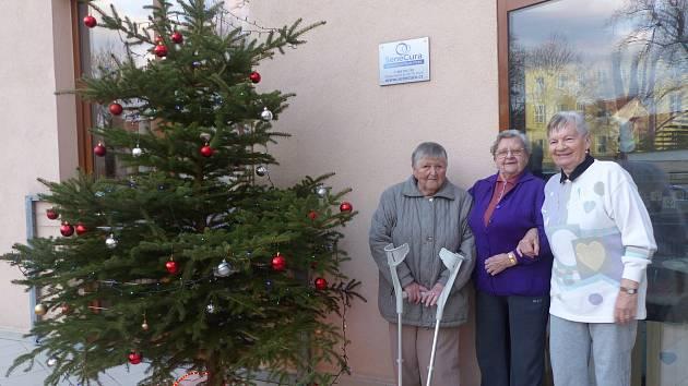 Jarmark a rozsvícení vánočního stromu v seniorcentru.