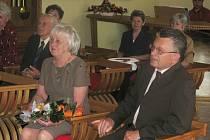 Zlatá svatba manželů Marie a Zdeňka Milerových.