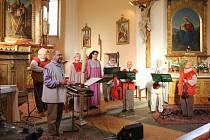 Koncert souboru Loutna česká v kostele svatého Prokopa Orlíku nad Vltavou.