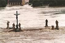 Kamenný most v Písku 13. srpna 2002.