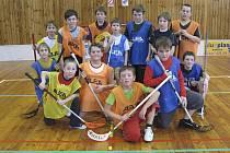 Na snímku jsou mladí florbalisté z Chyšek, kteří v tomto roce sbírali jenom samé úspěchy.