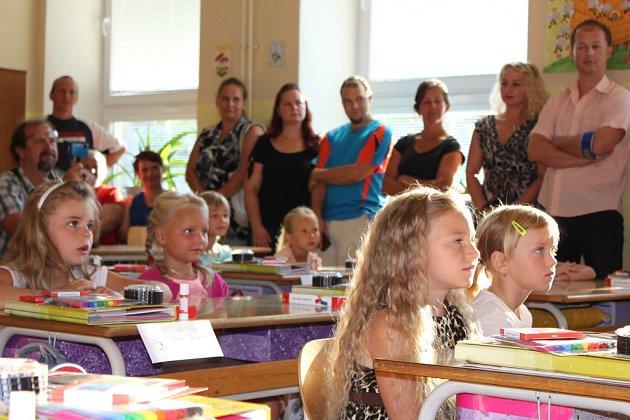 První školní den v Čimelicích.