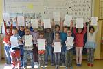 Vysvědčení v první třídě v ZŠ Mirovice.