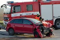 Vážná nehoda v Protivíně si vyžádala 5 středně těžce zraněných osob.