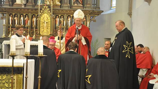 Rytíři Řádu sv. Lazara Jeruzalémského v Písku.