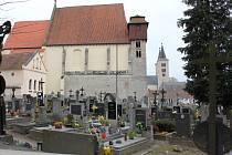 Hřbitov v Milevsku.