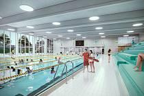 Studie nového bazénu pod lesnickou školou v Písku.