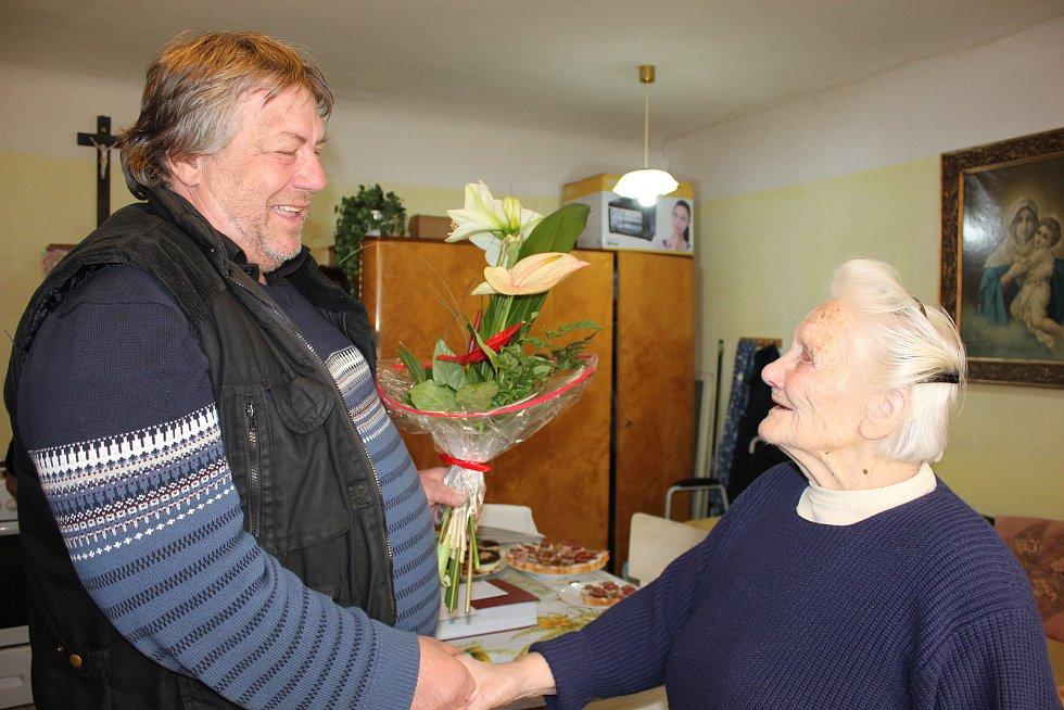 100. narozeniny Pavlíny Pavlové z Pamětic.