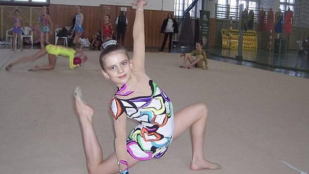 Na snímku je milevská gymnastka Natálie Křížová, vítězka kategorie nadějí mladších v letoním ročníku Milevského pohárku.