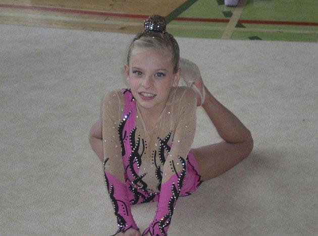 Milevská gymnastka Vivien Němečková (na snímku) v poslední době podává výkony hodné stupňů vítězů. Nejinak tomu bylo i na RG Proactive Cupu 2011.