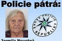 Policie pátrá po pohřešované Jarmile Novotné.