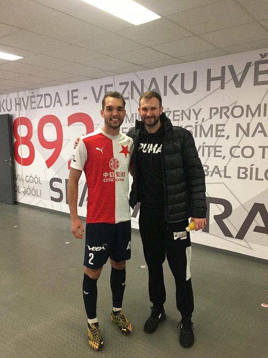 Brankářská jednička SK Slavia Praha Ondřej Kolář