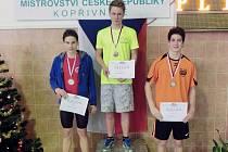 STUPŇĚ VITĚŽŮ. Na nejvyšší místo při vyhlašování výsledků Kristián Svoboda v Kopřivnici vystoupal celkem pětkrát. Na českém mistrovství navíc přidal ještě jedno třetí místo.