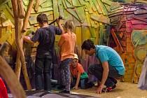Stálé dřevěné Mraveniště v písecké galerii pro děti Sladovna.
