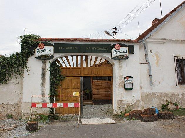 Čimelice, restaurace Na Hvížďalce. Ilustrační foto