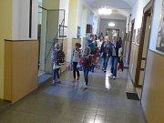První školní den v ZŠ Mirovice.